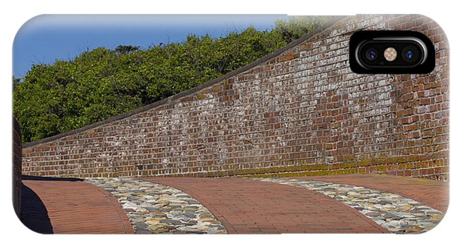 Harkers Island IPhone X Case featuring the photograph Fort Macon by Betsy Knapp