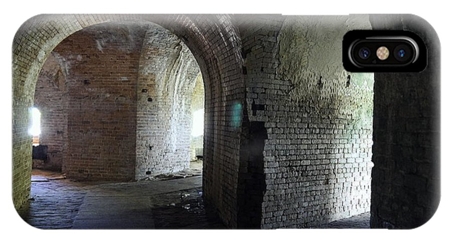 Fort IPhone X Case featuring the photograph Fort Pickens Corridors by Laurie Perry