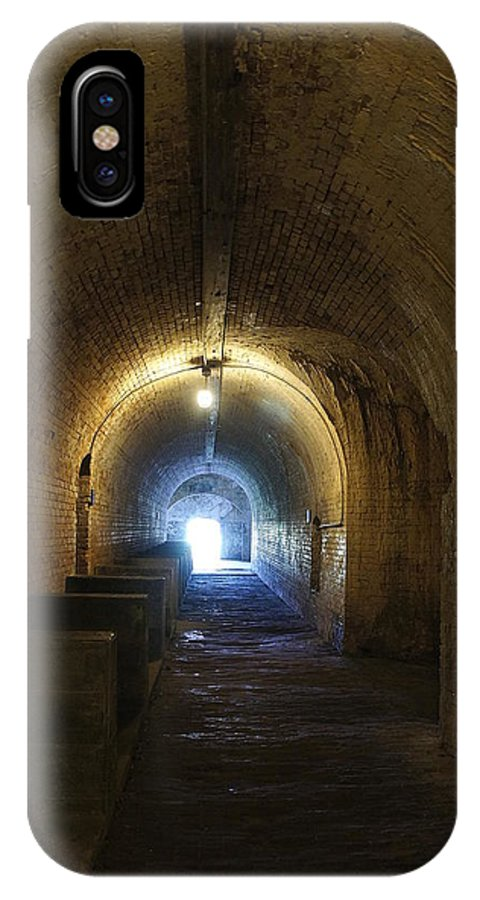 Fort IPhone X Case featuring the photograph Fort Pickens Hall by Laurie Perry
