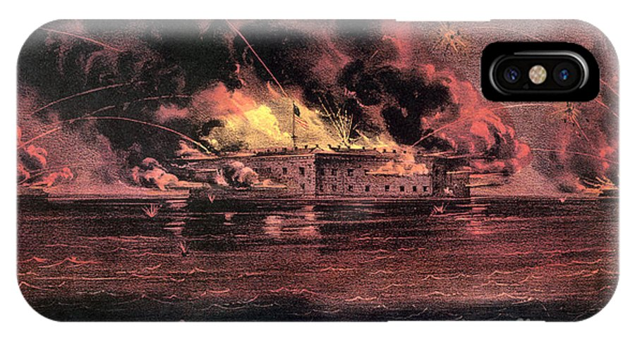 1861 IPhone X Case featuring the photograph Fort Sumter, 1861 by Granger
