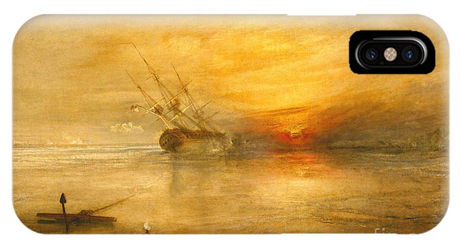 Fort IPhone X Case featuring the painting Fort Vimieux by Joseph Mallord William Turner