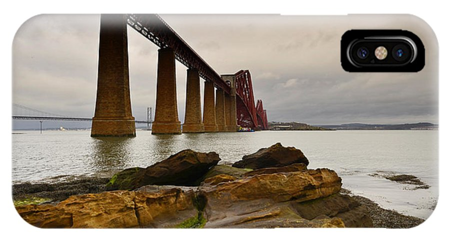 Forth Rail Bridge IPhone X Case featuring the photograph Forth Rail Bridge by Smart Aviation