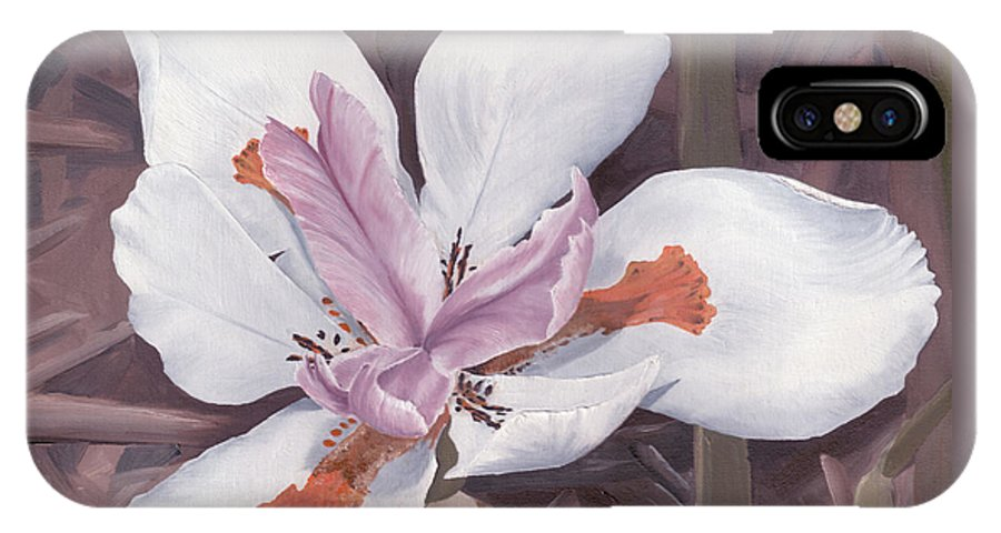 Fortnight Lily IPhone X Case featuring the painting Fortnight Lily by Thomas Brendle
