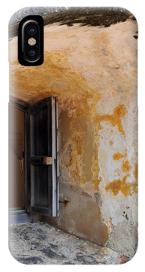 Fortress IPhone X Case featuring the photograph Fortress Window by Stephen Anderson