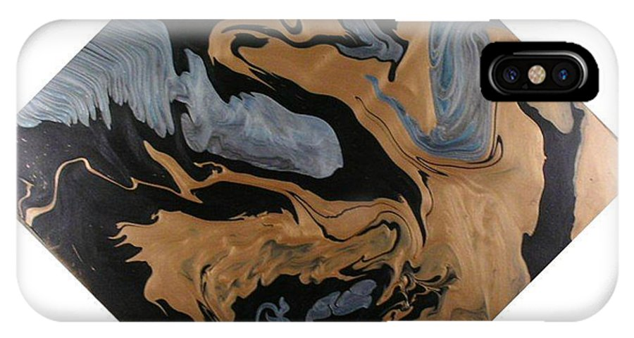 Abstract IPhone Case featuring the painting Fossil by Patrick Mock