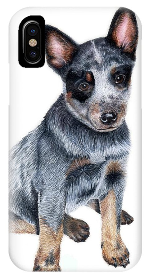 Dog IPhone X / XS Case featuring the drawing Foster by Kristen Wesch