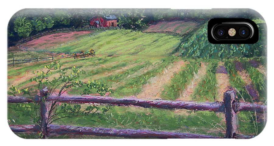 Fosterfields Farm IPhone X Case featuring the painting Fosterfields Farm by Laurie Paci