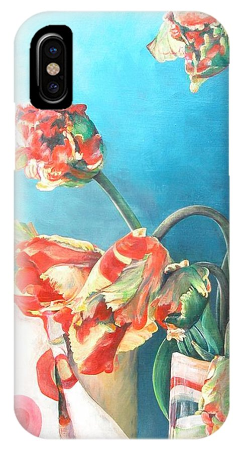Still Life IPhone X Case featuring the painting Foulard by Muriel Dolemieux