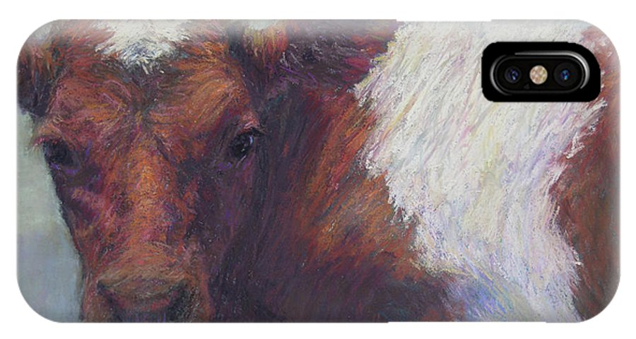 Cows IPhone X Case featuring the painting Foundling by Susan Williamson