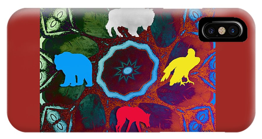 Wildlife IPhone X Case featuring the digital art Four Directions  -009 by Will Logan