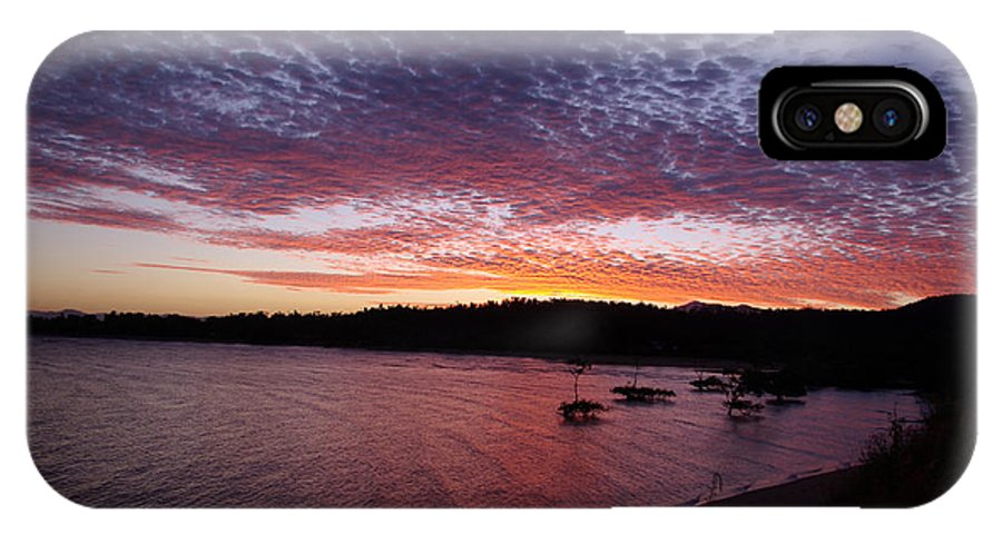 Landscape IPhone Case featuring the photograph Four Elements Sunset Sequence 1 Coconuts Qld by Kerryn Madsen - Pietsch