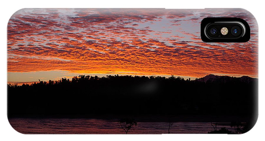 Landscape IPhone Case featuring the photograph Four Elements Sunset Sequence 2 Coconuts Qld by Kerryn Madsen - Pietsch