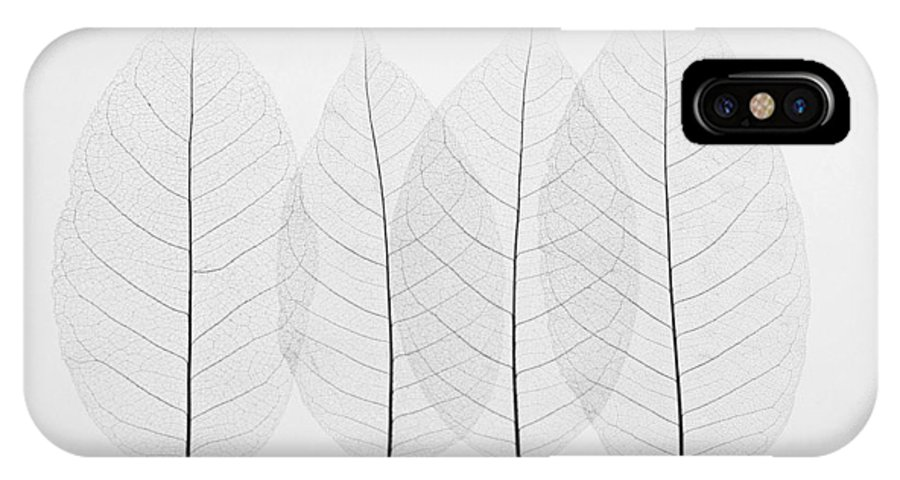 Leaf IPhone X Case featuring the photograph Four Leafs by BONB Creative
