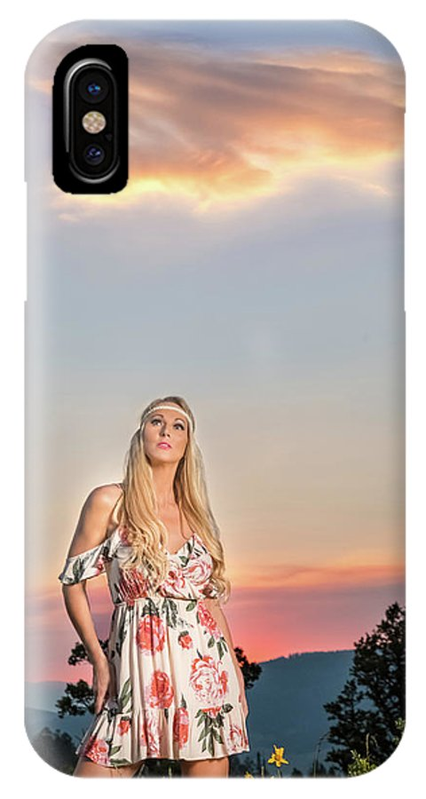 Cloud IPhone X Case featuring the photograph Four Mile Road 1 by Allegory Imaging