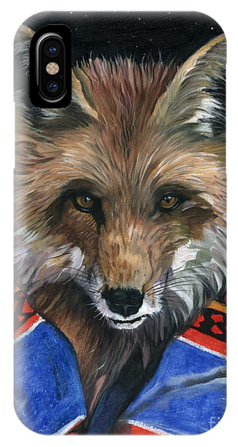 Fox IPhone Case featuring the painting Fox Medicine by J W Baker