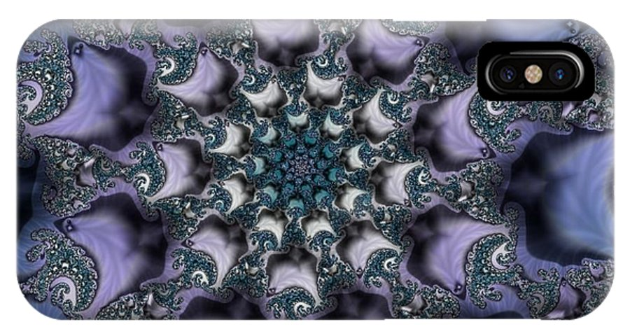 Fractal Rose Blossom Nature Life Organic IPhone X Case featuring the digital art Fractal 1 by Veronica Jackson