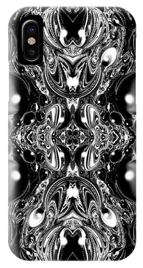 Digital Art IPhone X Case featuring the digital art Fractal 62316.1 by Belinda Cox