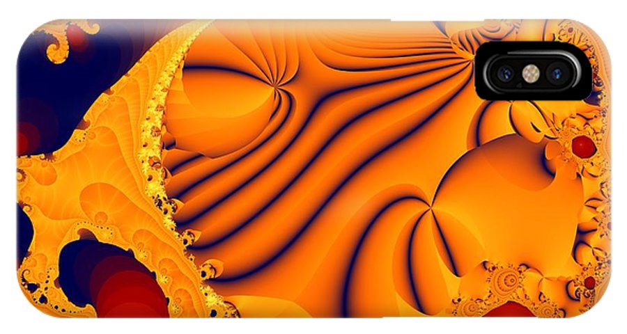 Fractal Art IPhone X Case featuring the digital art Fractal Pool by Ron Bissett