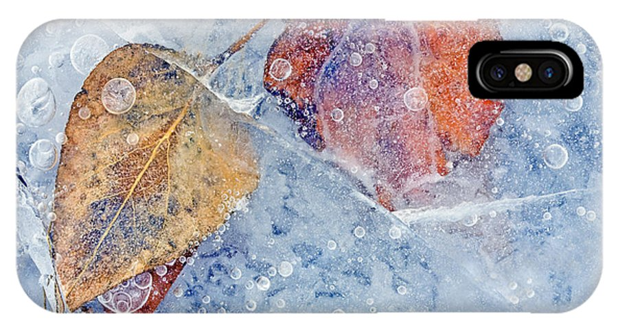 Ice IPhone X Case featuring the photograph Fractured Seasons by Mike Dawson