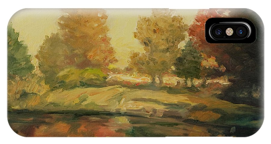 Trees IPhone X Case featuring the painting France I by Rick Nederlof