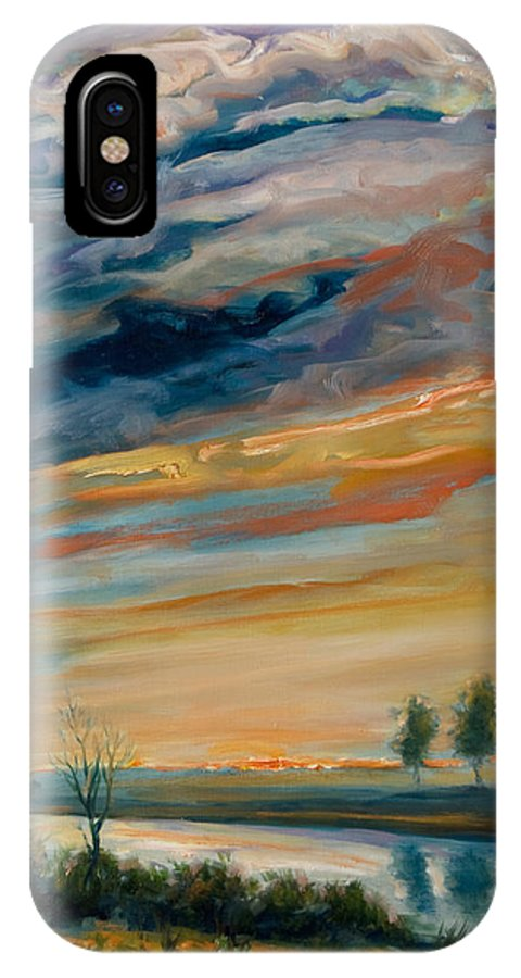 Water IPhone X Case featuring the painting France IIi by Rick Nederlof
