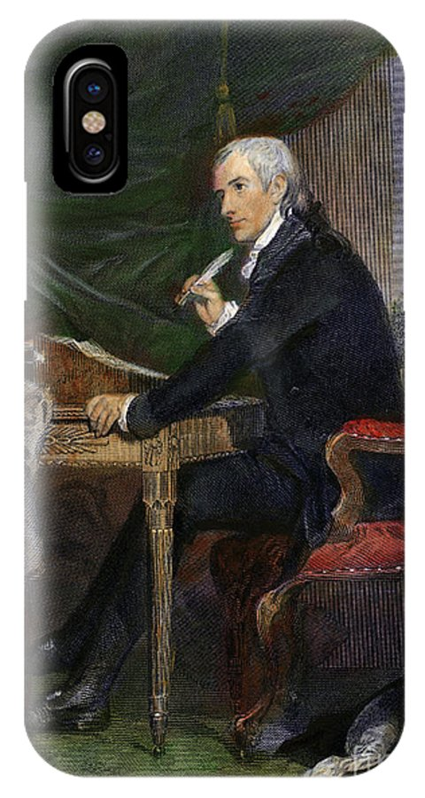 18th Century IPhone X Case featuring the drawing Francis Hopkinson by Granger