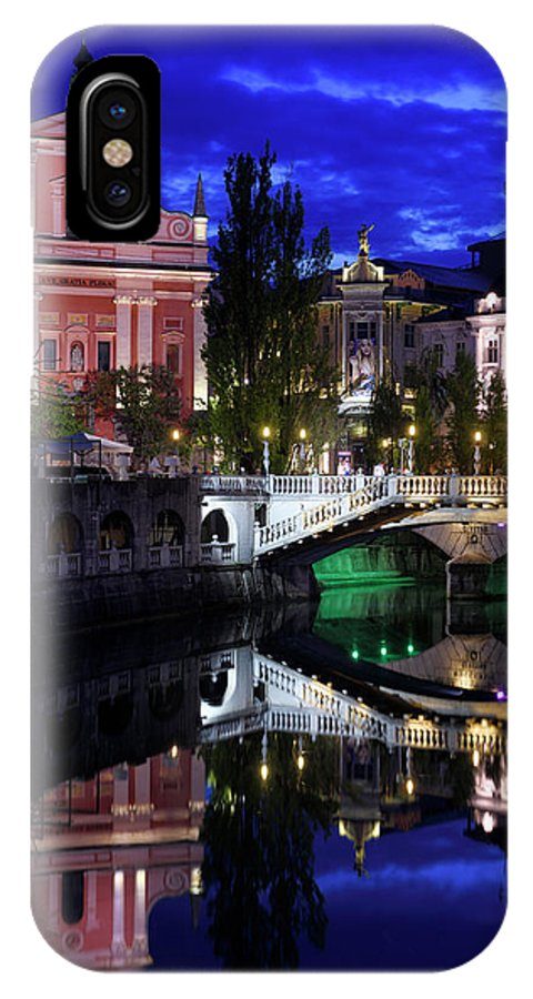 Reflections IPhone X Case featuring the photograph Franciscan Church Of The Annunciation, Gallerija Emporium, Centr by Reimar Gaertner