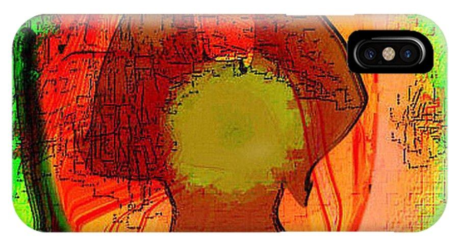 Digital IPhone X Case featuring the digital art Frau Im Mittelalter by Ilona Burchard