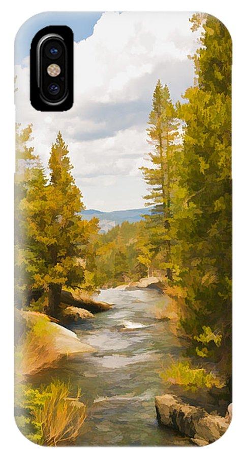 Frazier Creek IPhone X Case featuring the digital art Frazier Creek by Mick Burkey