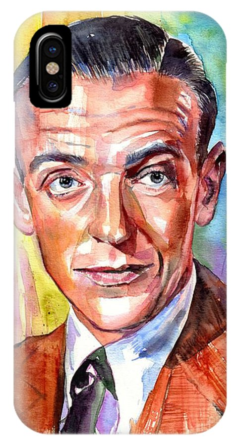 Fred Astaire IPhone X Case featuring the painting Fred Astaire Painting by Suzann Sines