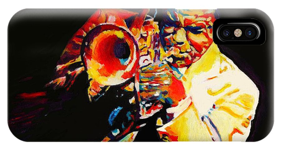 60s IPhone X Case featuring the painting Freddie Hubbard by Vel Verrept
