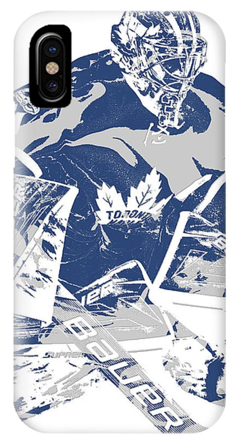 Frederik Andersen Toronto Maple Leafs Pixel Art 2 Iphone X Case For Sale By Joe Hamilton