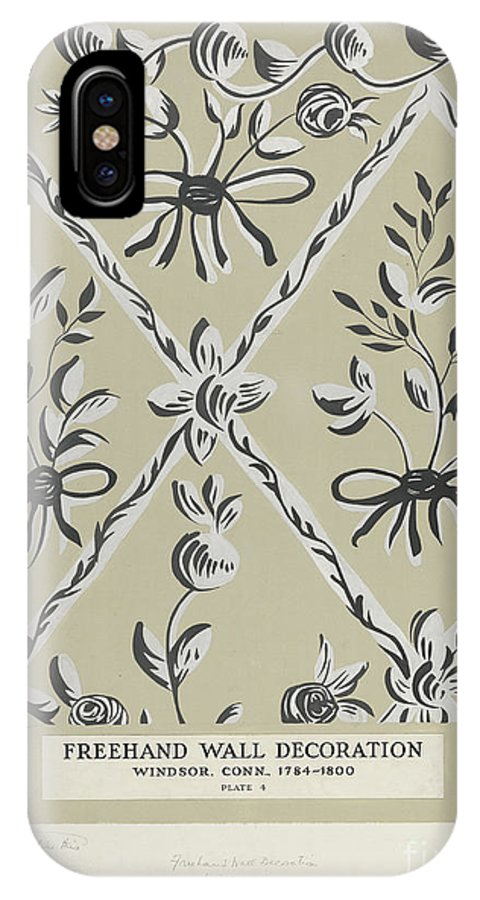 IPhone X Case featuring the drawing Free Hand Decoration by Michael Lauretano