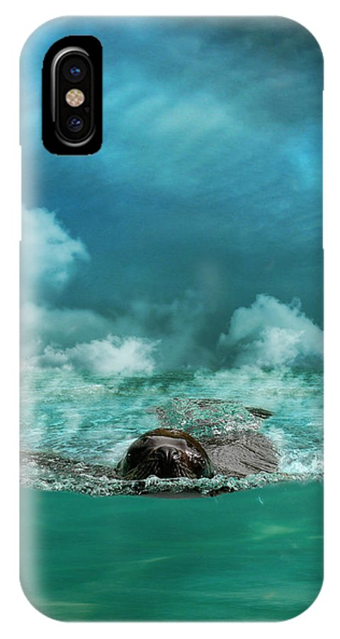 Sea IPhone X / XS Case featuring the photograph Free by Martine Roch