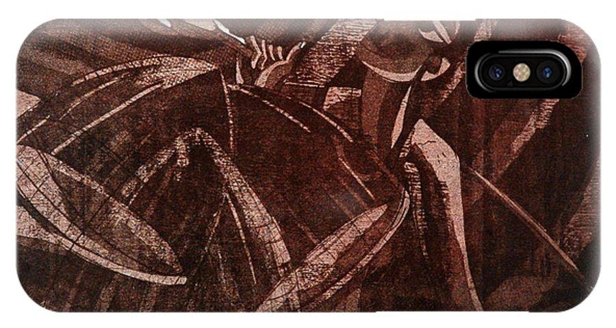 Botanical Digital Art IPhone X Case featuring the painting Freedom -2 by Guffar Babu