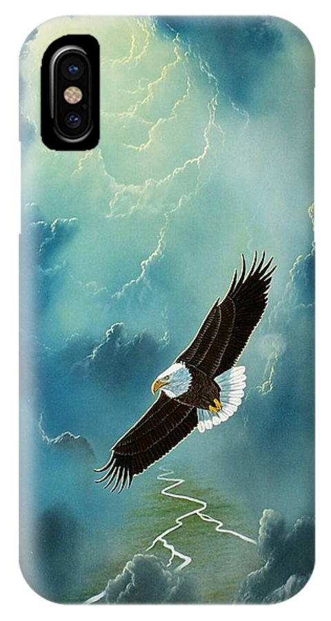 Eagle IPhone X Case featuring the painting Freedom by Don Griffiths