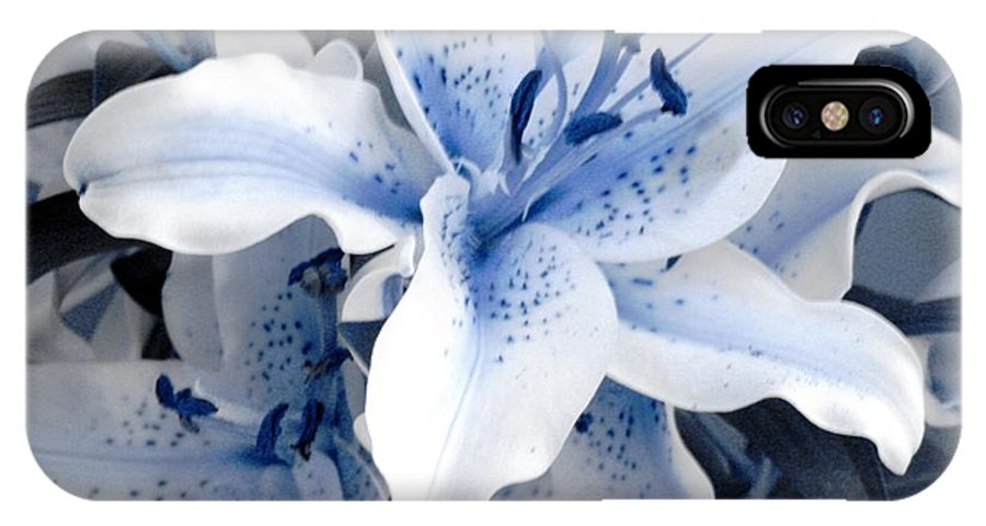 Blue IPhone X Case featuring the photograph Freeze by Shelley Jones
