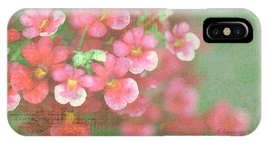 Red IPhone X Case featuring the photograph French Market Series I by Rebecca Cozart
