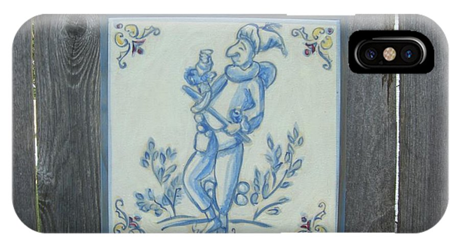 IPhone X / XS Case featuring the painting French Tile 1 by Hart Rueter