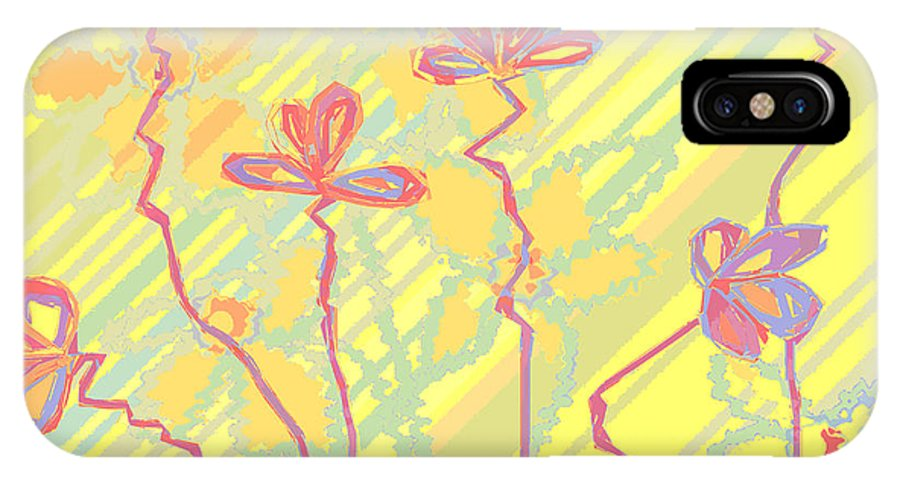 Floral IPhone X Case featuring the digital art Fresh And Frisky by Ruth Palmer