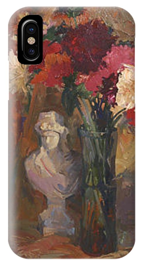 Still Life IPhone X Case featuring the painting Fresh Cut by Betty Jean Billups