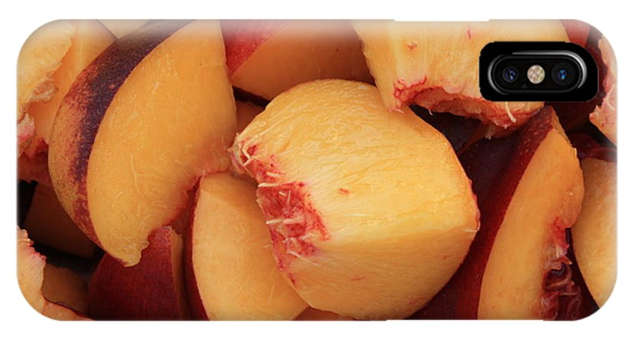 Peaches IPhone X Case featuring the photograph Fresh Peaches by Carol Groenen