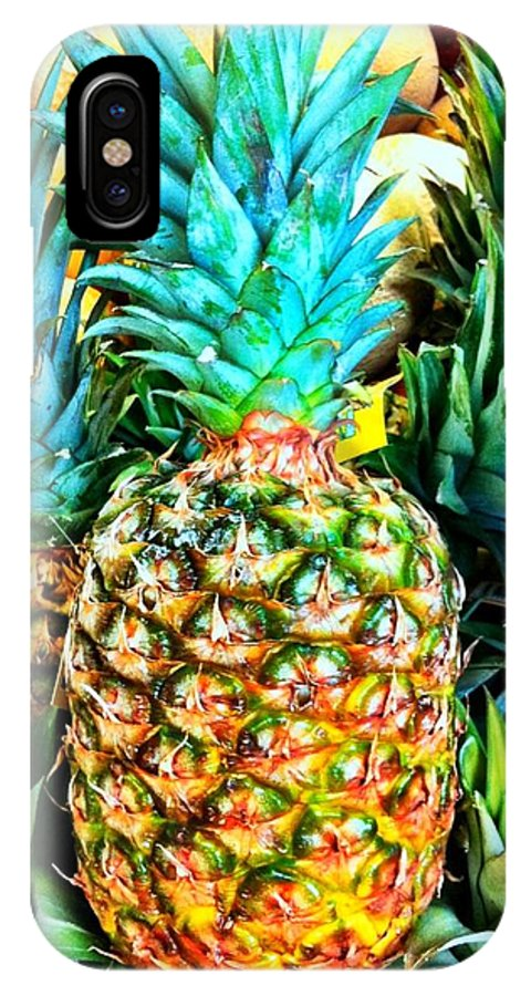 Produce Store IPhone X Case featuring the photograph Fresh Pineapple by Carlos Avila