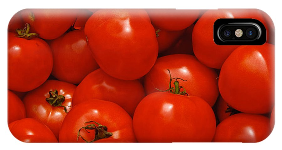 Tomato IPhone X Case featuring the photograph Fresh Red Tomatoes by Thomas Marchessault