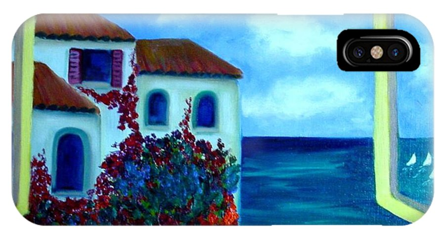 Seascape IPhone Case featuring the painting Fresh Sea Air by Laurie Morgan