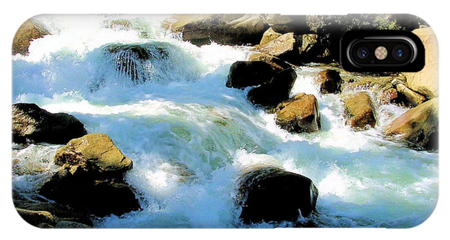 Photography IPhone X Case featuring the photograph Fresh Water - Colorado Rockies by Cheryl Poland