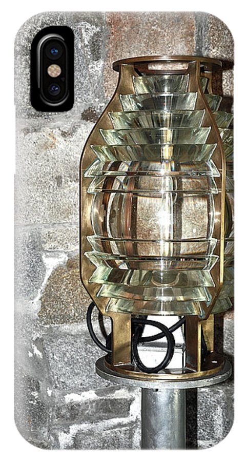 Lighthouse Light IPhone X Case featuring the photograph Fresnel Lens by Colleen English