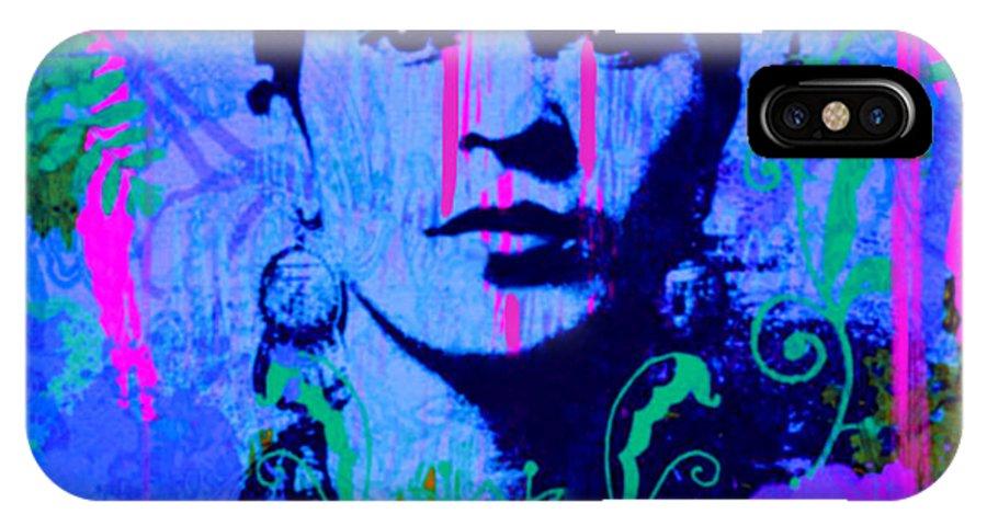Frida Kahlo IPhone X Case featuring the painting Frida Kahlo Street Pop Art No.1 by Felix Von Altersheim