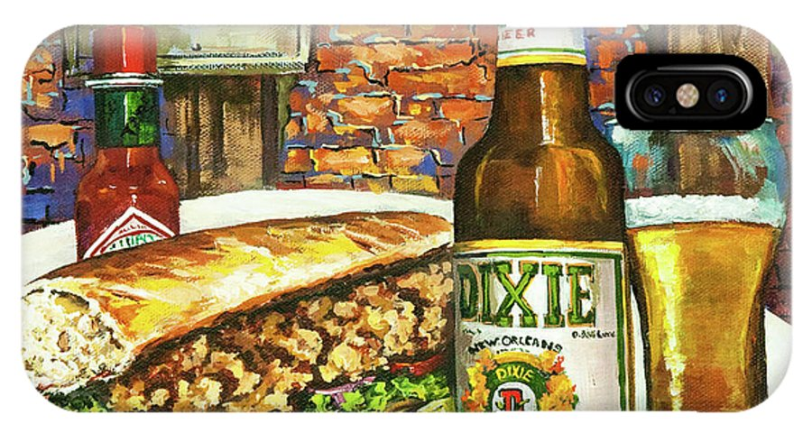 Dixie IPhone X Case featuring the painting Friday Night Special by Dianne Parks