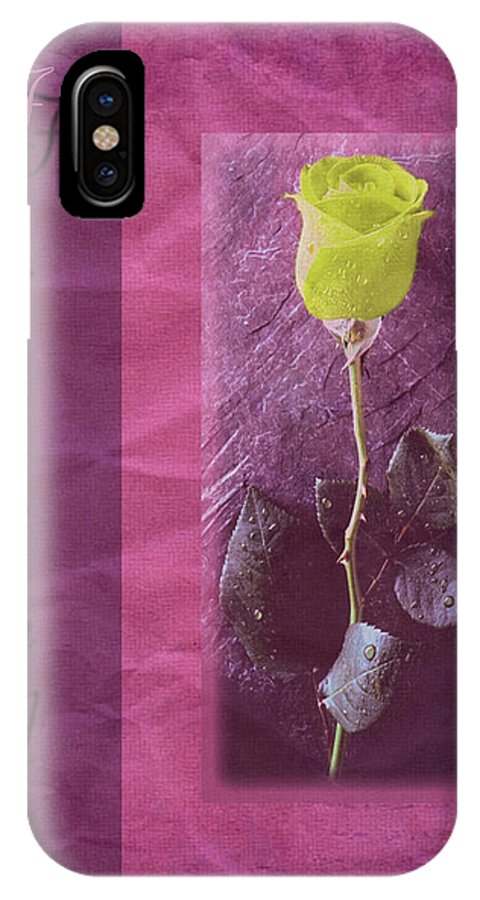 Friend IPhone X Case featuring the mixed media Friendship Greeting Card by Kenneth Krolikowski
